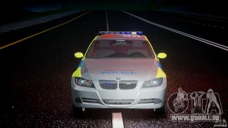BMW 350i Indonesian Police Car [ELS] pour GTA 4 est une vue de dessous