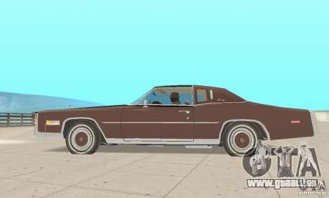 Cadillac Eldorado Biarritz 1978 pour GTA San Andreas sur la vue arrière gauche