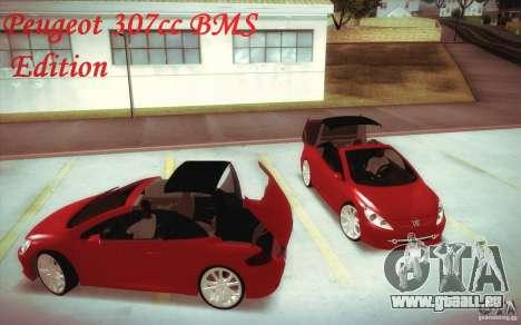 Peugeot 307CC BMS Edition pour les ordinateurs p pour GTA San Andreas