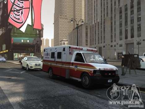 Chevrolet Ambulance FDNY v1.3 für GTA 4 Rückansicht