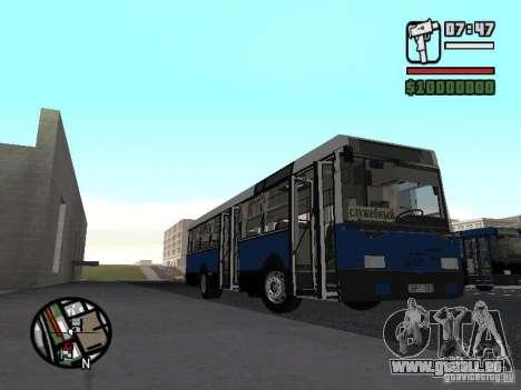 Ikarus 415.02 pour GTA San Andreas sur la vue arrière gauche