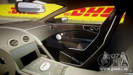 Lamborghini Murcielago LP670-4 SuperVeloce pour GTA 4 est une vue de l'intérieur