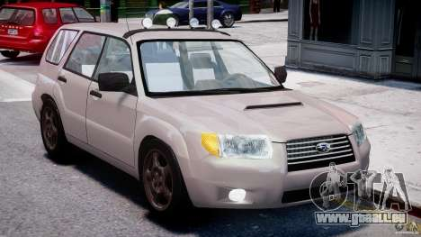 Subaru Forester v2.0 pour GTA 4 est une vue de l'intérieur