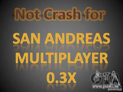 Not Crash for SAMP 0.3x für GTA San Andreas