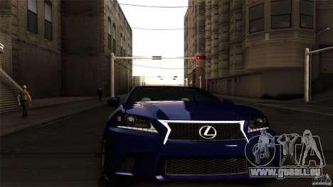 Lexus GS350F Sport 2013 für GTA San Andreas zurück linke Ansicht