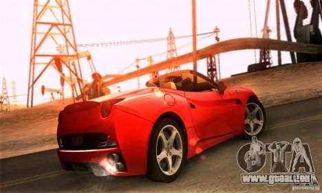 Ferrari California V3 pour GTA San Andreas laissé vue