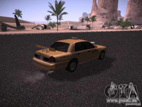 Ford Crown Victoria Taxi 2003 pour GTA San Andreas vue de côté