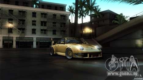 Porsche 993 RWB pour GTA San Andreas vue de côté