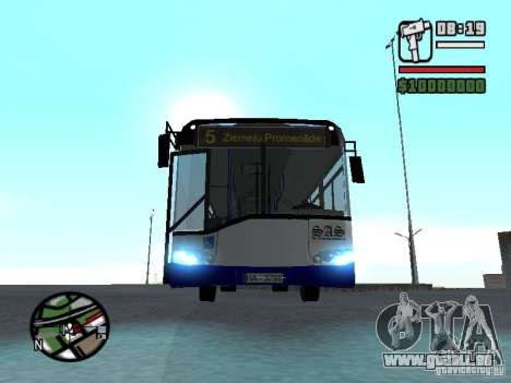 Solaris Urbino 12 für GTA San Andreas Rückansicht