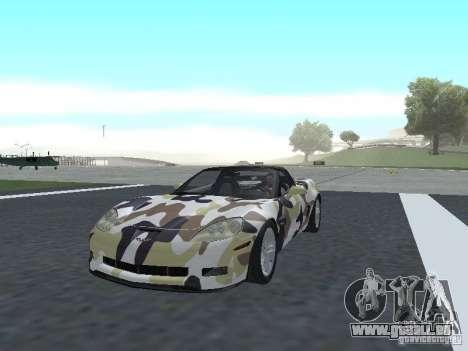 Chevrolet Corvette Z06 für GTA San Andreas Innen