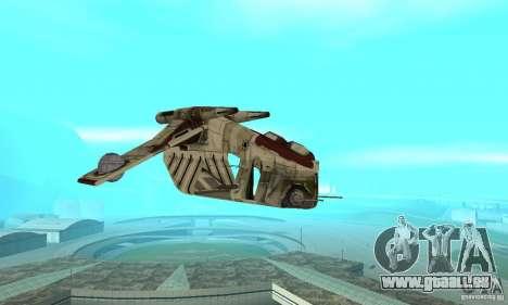 République Gunship de Star Wars pour GTA San Andreas vue arrière