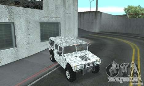 Hummer H1 für GTA San Andreas Unteransicht