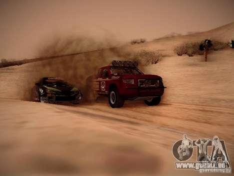 Honda Ridgeline Baja pour GTA San Andreas vue intérieure