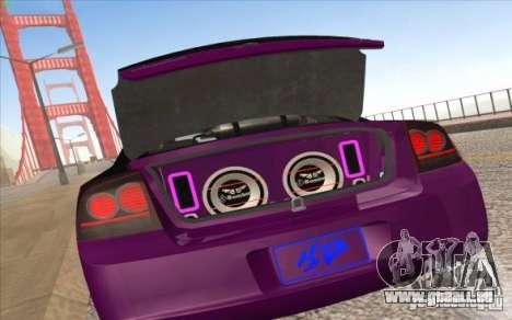 Dodge Charger SRT 8 für GTA San Andreas zurück linke Ansicht