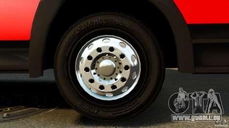 Mercedes-Benz Atego FPTGP Sapeurs Pompiers ELS pour GTA 4 Vue arrière