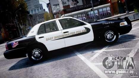Ford Crown Victoria Massachusetts Police [ELS] pour GTA 4 est une gauche