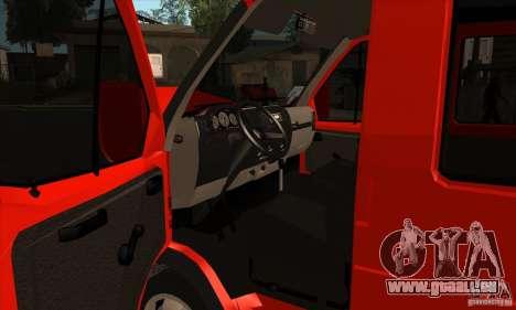 Gazelle 2705-Fracht-Passagier für GTA San Andreas Innenansicht