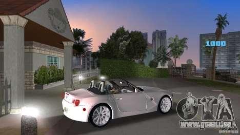 BMW Z4 2004 pour une vue GTA Vice City de la droite
