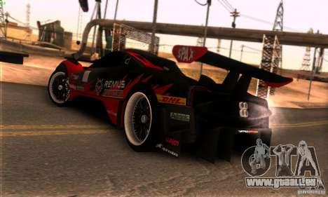 Pagani Zonda R pour GTA San Andreas vue intérieure