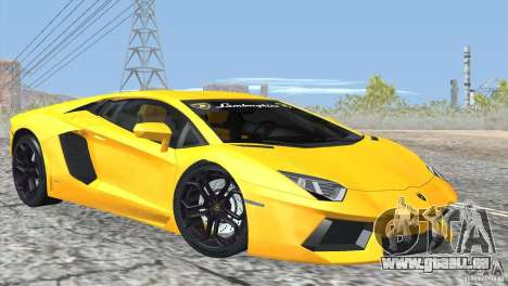 Lamborghini Aventador LP700-4 2012 für GTA San Andreas obere Ansicht