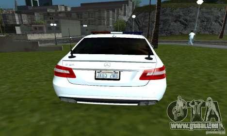 Mercedes-Benz E63 DPS für GTA San Andreas zurück linke Ansicht
