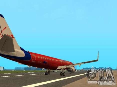 Embraer ERJ 190 Virgin Blue pour GTA San Andreas vue de droite
