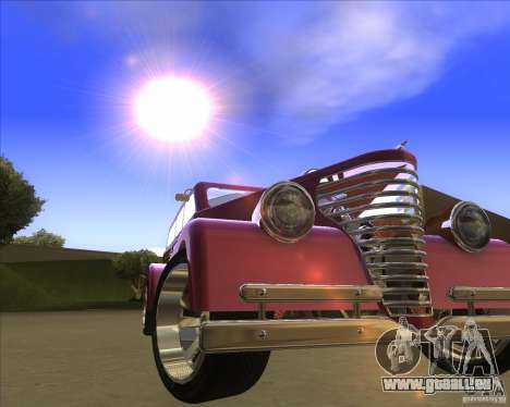 Custom Woody Hot Rod für GTA San Andreas Rückansicht