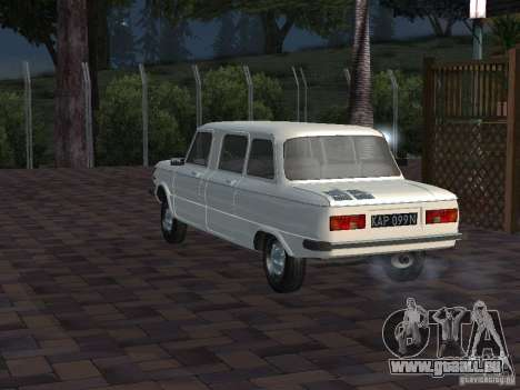 ZAZ 968 m Limousine für GTA San Andreas Rückansicht