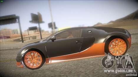 Bugatti Veyron Super Sport für GTA San Andreas Seitenansicht