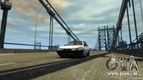 VAZ 2109 léger tuning pour GTA 4 Vue arrière