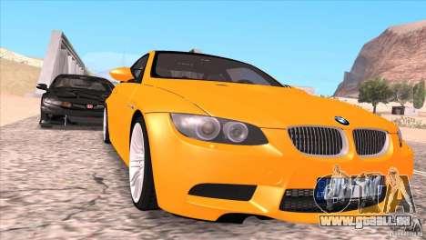 BMW M3 E92 für GTA San Andreas Räder