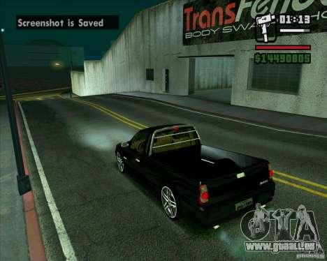 VW Saveiro G4 1.8 pour GTA San Andreas sur la vue arrière gauche