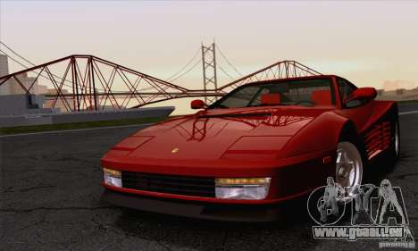 Ferrari Testarossa 1986 pour GTA San Andreas vue arrière