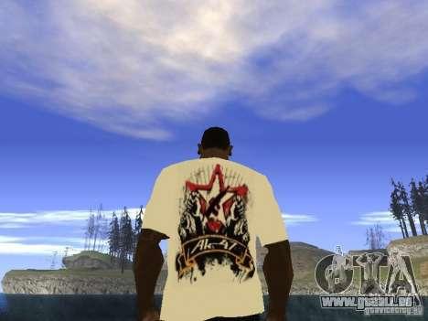 T-Shirt NoGGano228 et AK-47 pour GTA San Andreas troisième écran