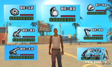 New Weapon Icon Pack für GTA San Andreas