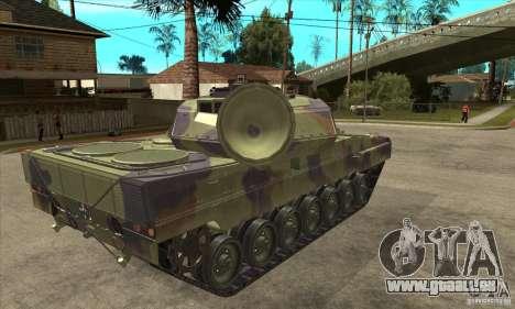 Leopard 2 A6 pour GTA San Andreas vue de droite