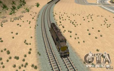 Clinchfield SD40 (Yellow & Grey) für GTA San Andreas rechten Ansicht