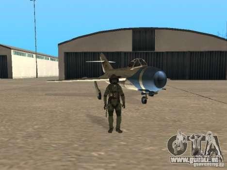 MiG 15 avec armes pour GTA San Andreas