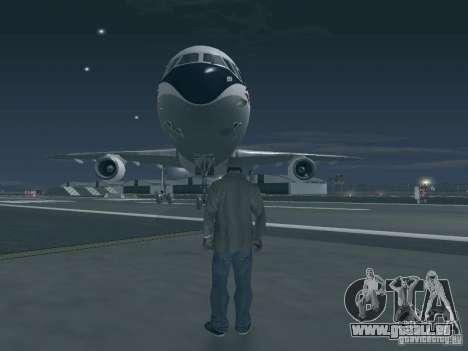 L1011 Tristar Delta Airlines pour GTA San Andreas sur la vue arrière gauche