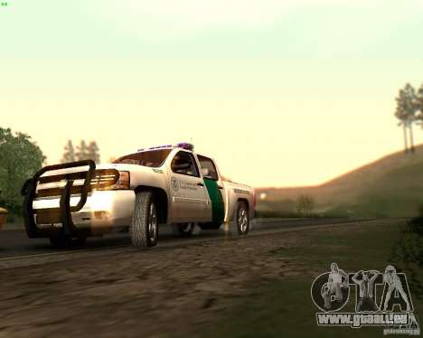Chevrolet Silverado Police pour GTA San Andreas vue de dessous