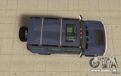 Hummer H3 pour GTA San Andreas vue de droite