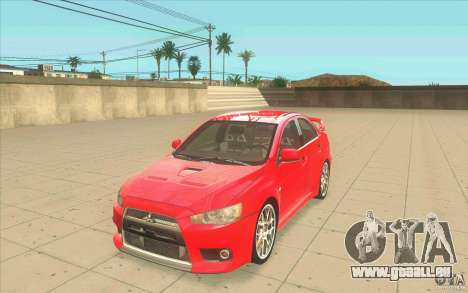 Mitsubishi Lancer Evolution X MR1 für GTA San Andreas