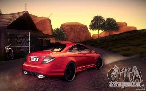 Mercedes Benz CL65 AMG pour GTA San Andreas vue arrière