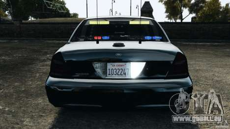 Ford Crown Victoria Police Unit [ELS] für GTA 4 Innen