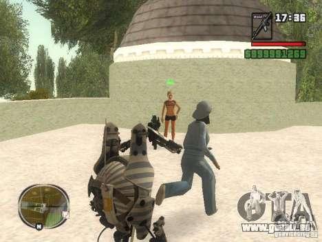 Robot de Portal 2 # 1 pour GTA San Andreas quatrième écran
