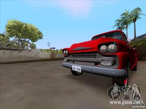 Chevrolet Apache GM 1959 pour GTA San Andreas sur la vue arrière gauche