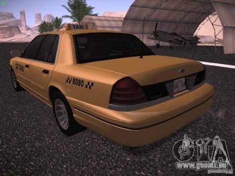 Ford Crown Victoria Taxi 2003 pour GTA San Andreas vue de droite