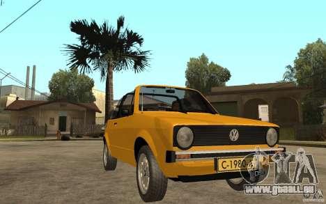 Volkswagen Golf MK1 Cabrio für GTA San Andreas Rückansicht