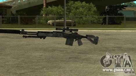 EBR MK14 avec un silencieux pour GTA San Andreas quatrième écran