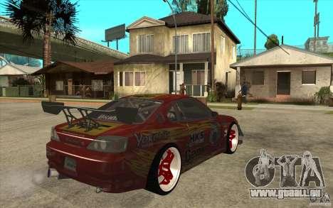 Nissan Silvia HKS Genki für GTA San Andreas rechten Ansicht